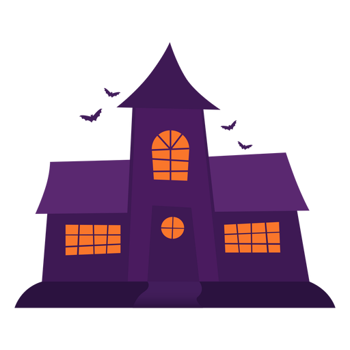 Spooky ghosthouse illustration