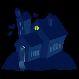 Ilustração de casa assustadora