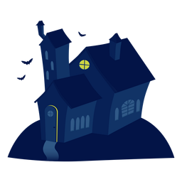 Ilustración de la casa espeluznante