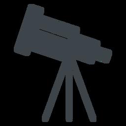 Flache Ikone des Teleskops
