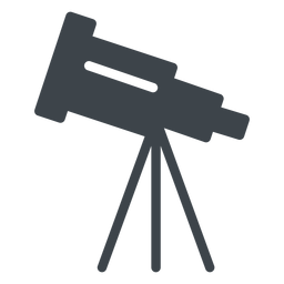 Telescope flat school icon