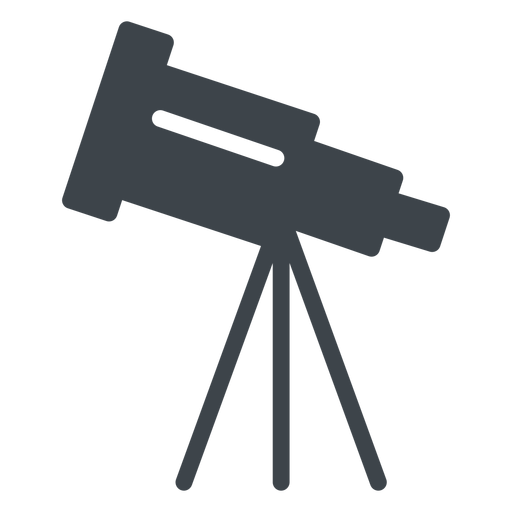 Telescope flat school icon Transparent PNG