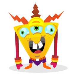 Ilustración de monstruo triangular