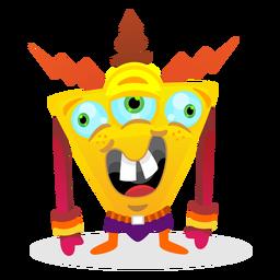 Triangle monster illustration