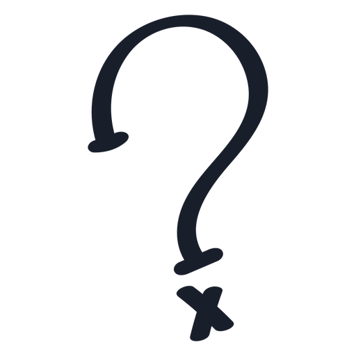 X question mark drawing Transparent PNG
