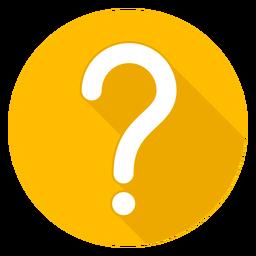 Icono de interrogación de círculo amarillo