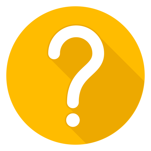Yellow circle question mark icon Transparent PNG