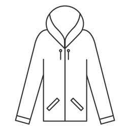 Reißverschluss-Hoodie-Symbol