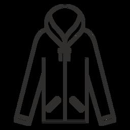 Zip hoodie stroke icon