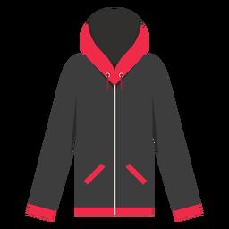 Reißverschluss-Taschen-Hoodie-Symbol