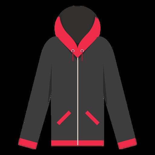Ícone de hoodie zip bolsos Transparent PNG