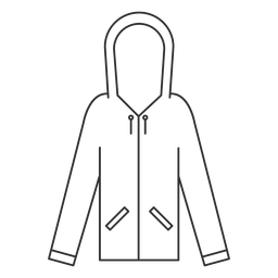 Zip pockets hoodie stroke icon
