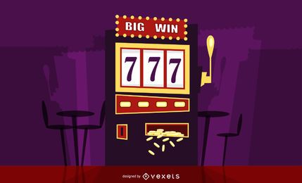 Big win slot ilustração