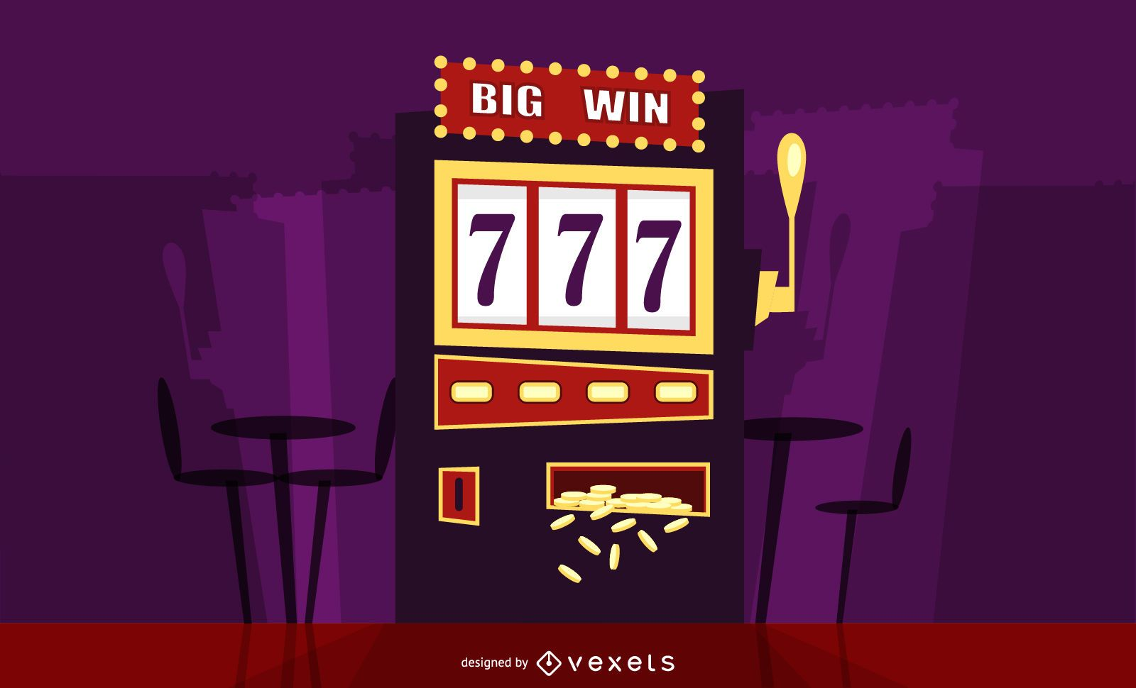 Big win slot illustration