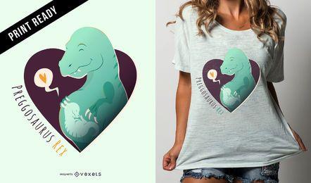 Diseño de camiseta Preggosaurus Rex Funny Pregnancy