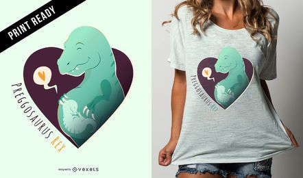 Preggosaurus Rex Funny Pregnancy Design de Camiseta