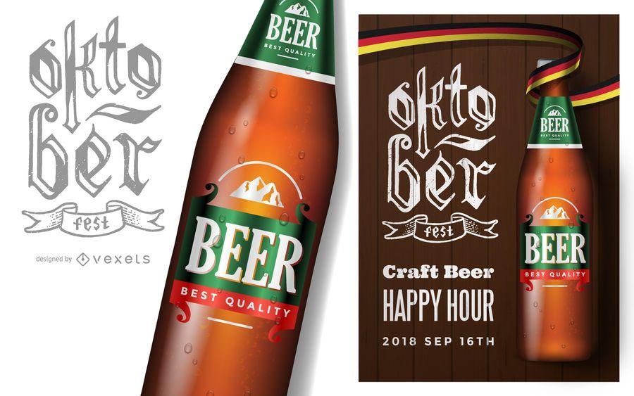 Design de cartaz da Oktoberfest