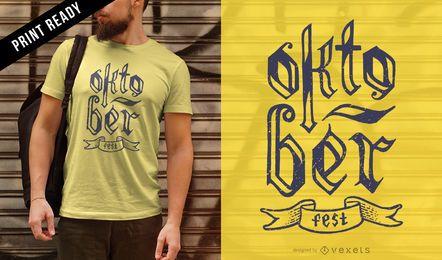 Diseño de camiseta con letras Oktoberfest