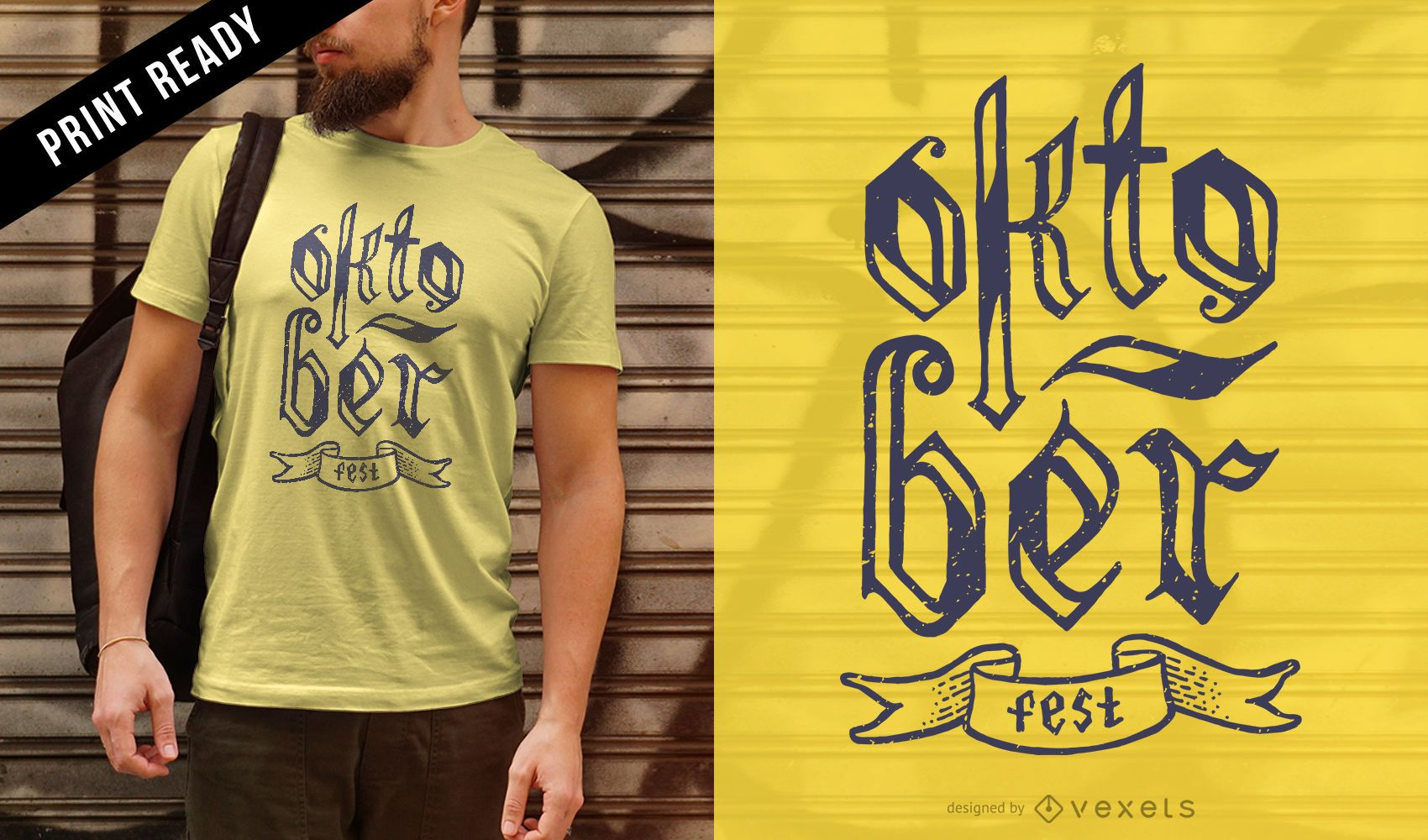 Dise?o de camiseta con letras Oktoberfest