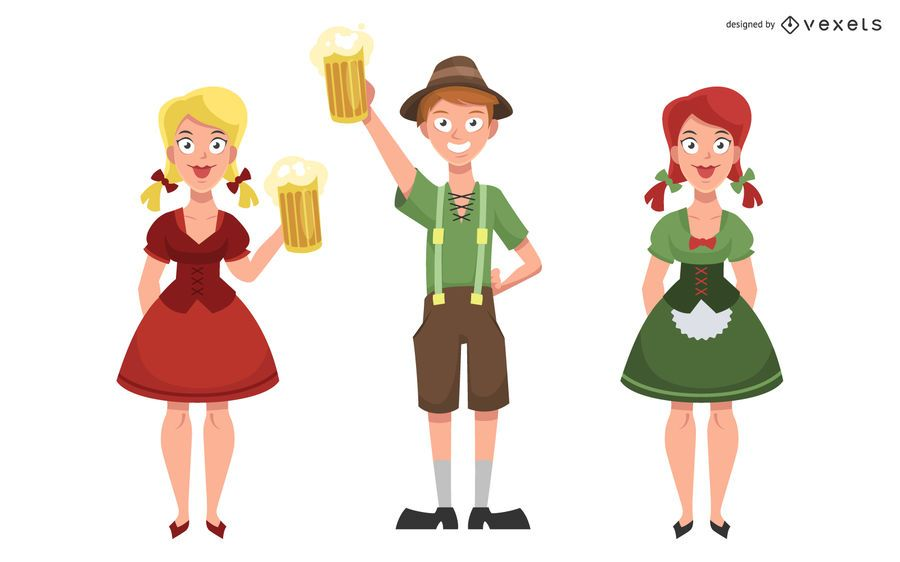 Oktoberfest characters set