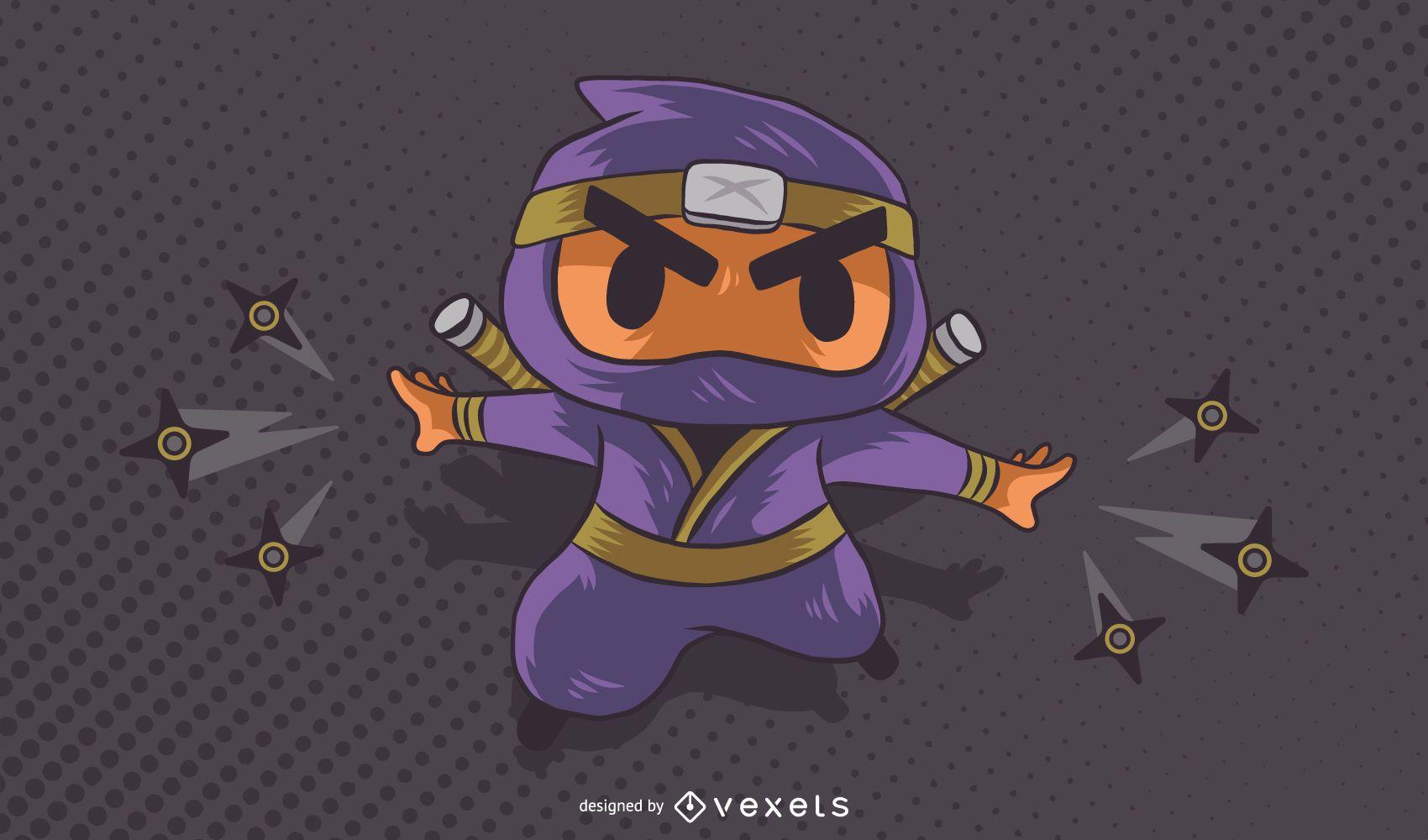 Ninja character cartoon