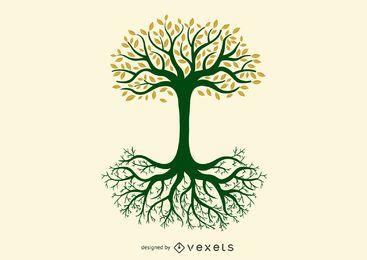 Baum des Lebens Yggdrasil Nordisches Grafikdesign