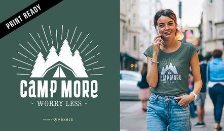 Campamento más diseño de camiseta