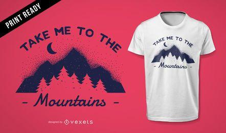 Design de t-shirt de montanha