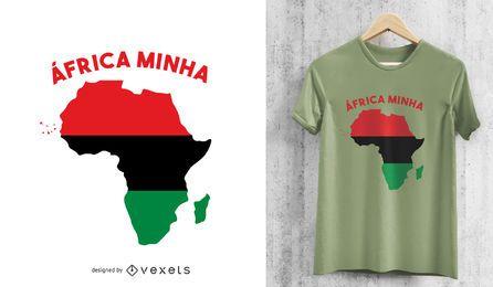 Afrika-Minha-Panafrikanisches Motiv-T-Shirt-Design