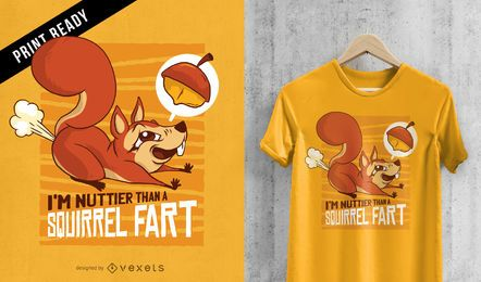 Ardilla pedo diseño divertido de la camiseta