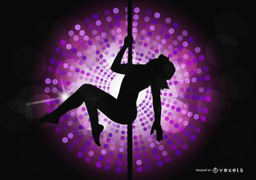 Night club pole dancing background