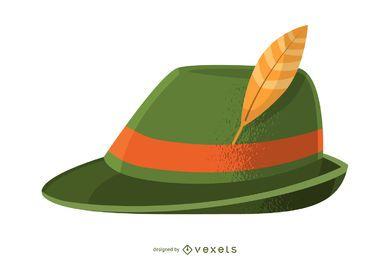 Ilustração de chapéu da Baviera