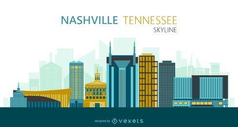 Ilustração do skyline de Nashville