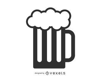 Jarra de cerveza icono de jarra
