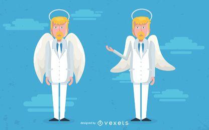 Ilustración de personaje ángel masculino