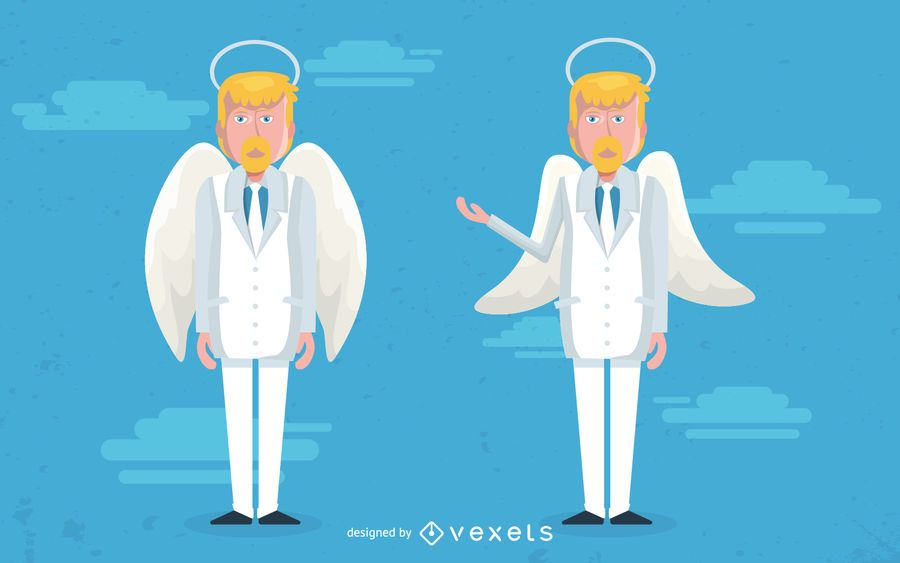 Male angel character illustration