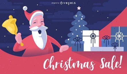 Fundo de venda de Natal de Papai Noel