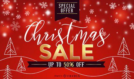 Design de venda de Natal vermelho