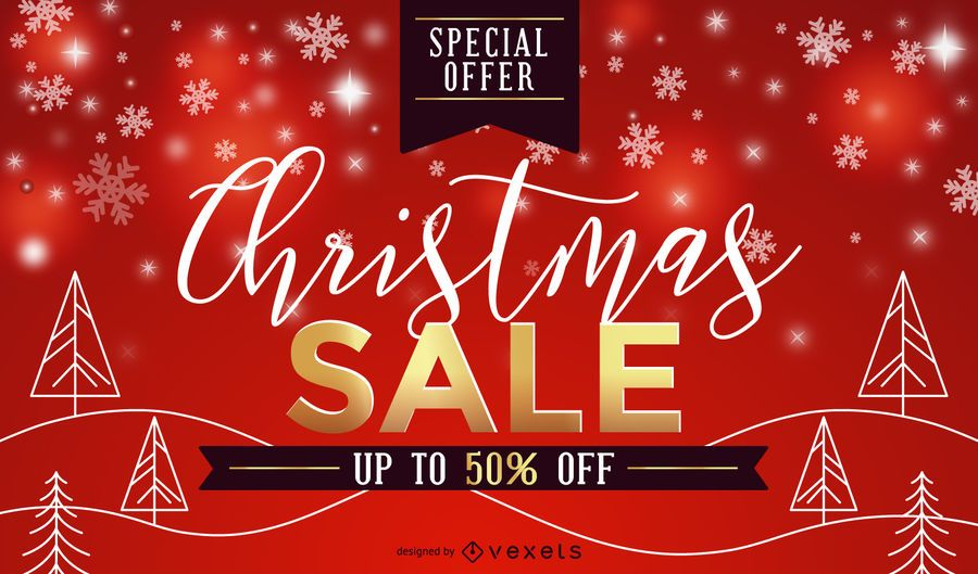 Red Christmas sale design