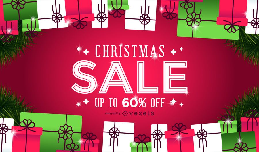 Christmas sale gifts background