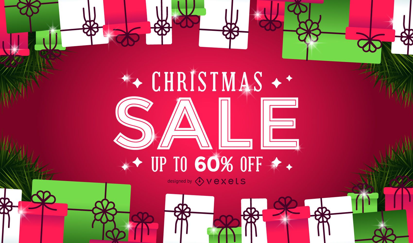 Christmas sale gifts background - Vector download