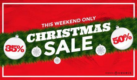 Fundo de festão de venda de Natal