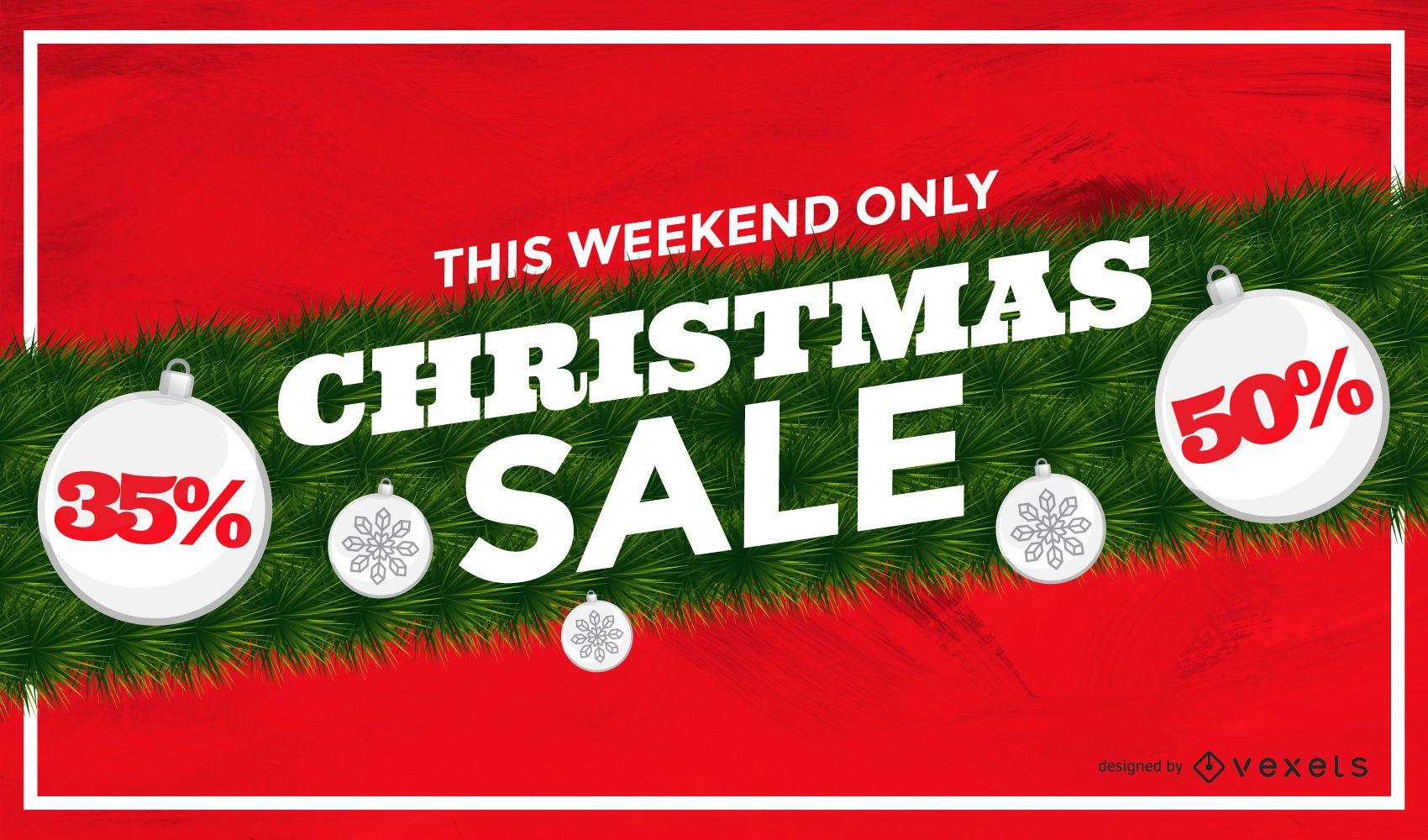Christmas sale garland background