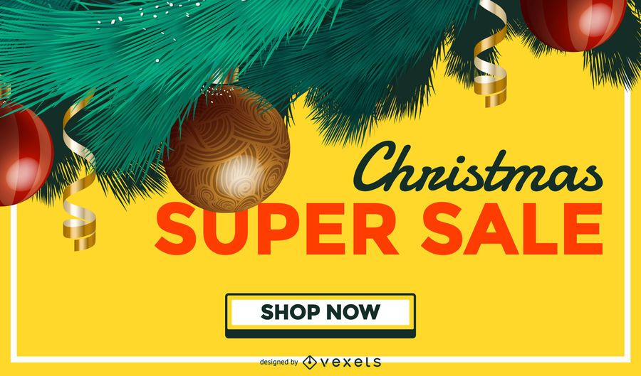 Christmas sale tree background