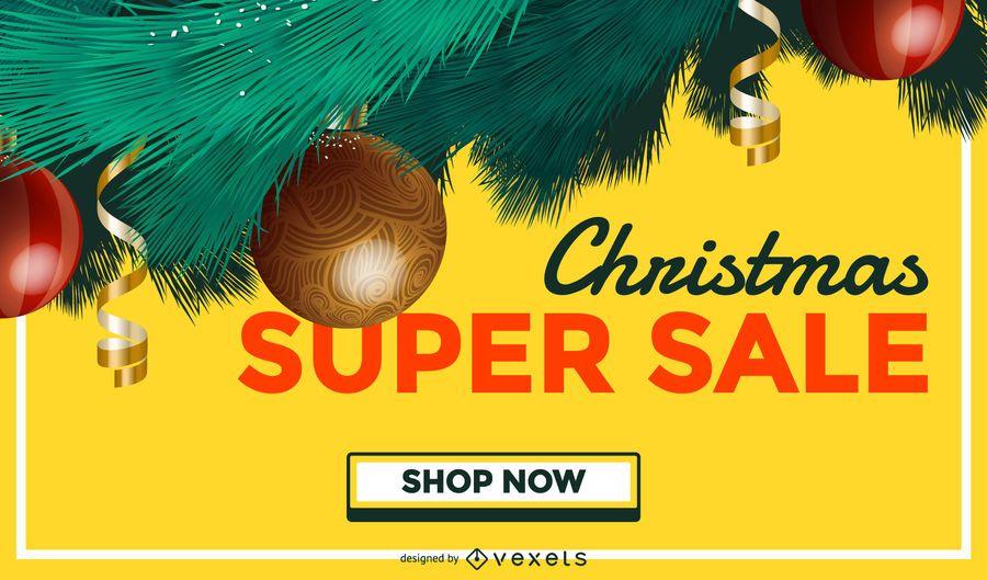 Weihnachtsverkauf-Baumhintergrund