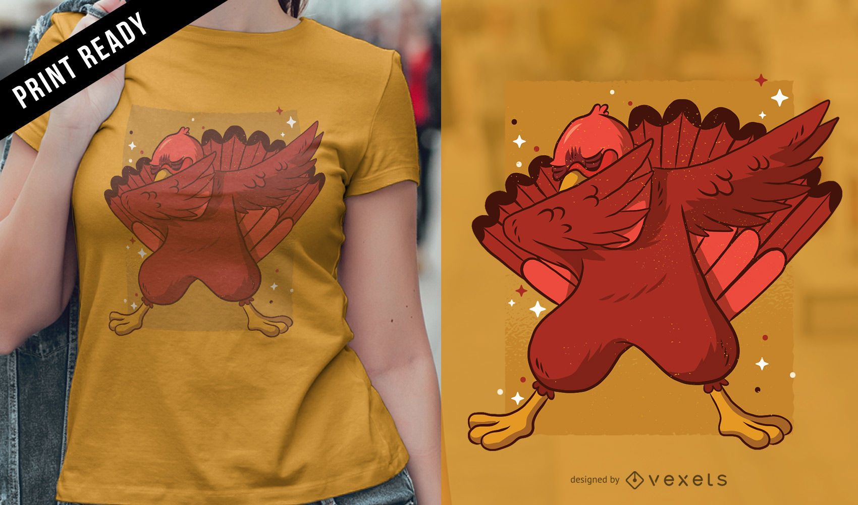 Turkey dab t-shirt design
