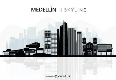 Medellin skyline silhouette