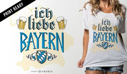 Ich liebe Bayern design de t-shirt