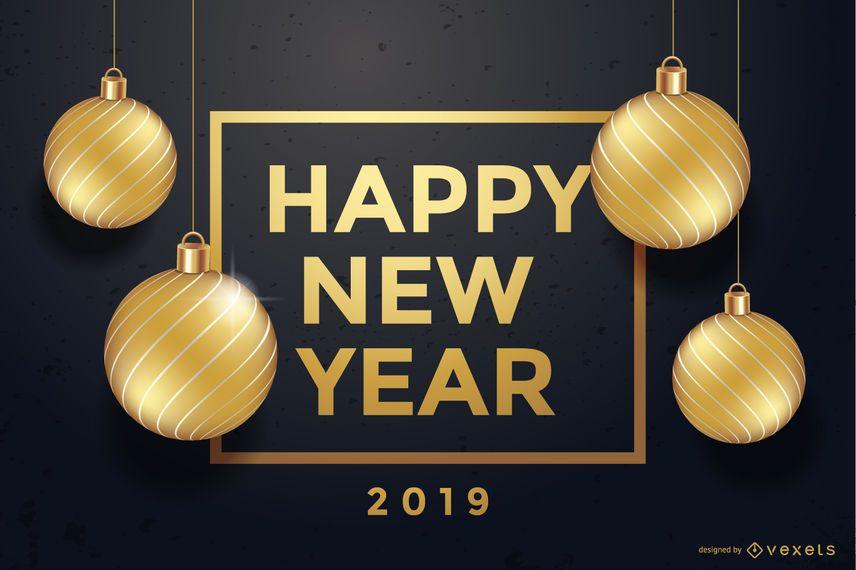 Frohes neues Jahr 2019 Hintergrund