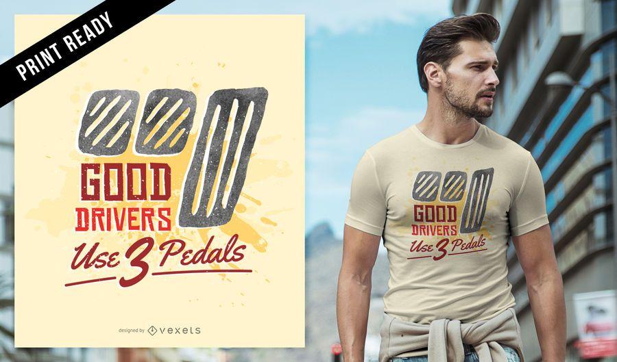 Buen diseño de camiseta de conductores.